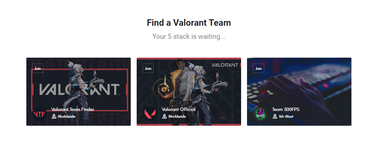valorantdirectory.com listings