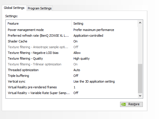 best fps settings warzone nvidia