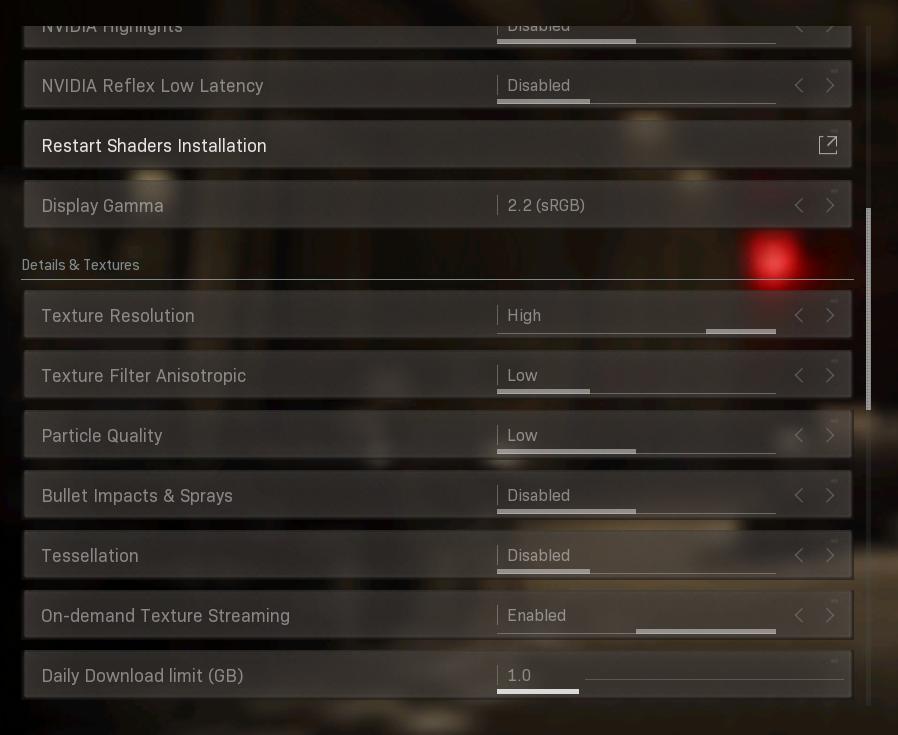 best fps settings warzone nvidia