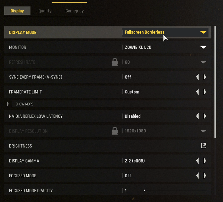 vanguard best display settings for pc nvidia